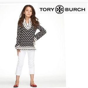 TORY BURCH KIDS ||  heart mini tunic sweater XXL